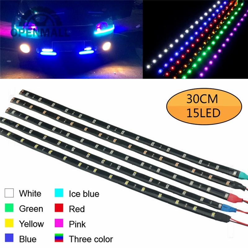 Dây đèn LED 15 bóng 30cm chống nước cho xe hơi