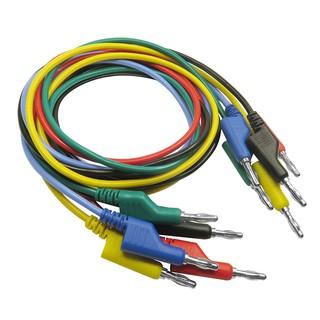 Lot 5Pcs Banana Plug 4mm Stackable Test Leads Cable, 5 Colors, 120cm Length