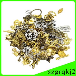 50g Mixed Shape Charms Pendants DIY Jewelry Making Accessories Findings
