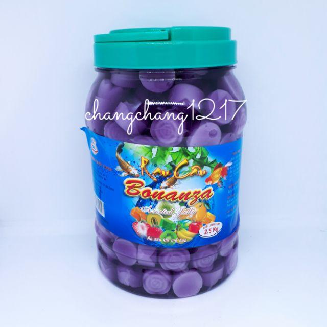 Thạch Dừa Rau Câu Bông Hồng Hoàng Quốc Đủ Màu Hủ 2kg5