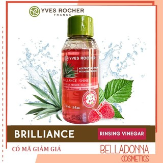[Mini Size] Giấm Xả Tóc Yves Rocher Brillance Shine Rinsing Raspberry Vinegar 50ml