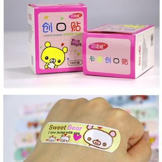 [1 hộp 100m]Băng dán Urgo dán vết thương cute HỘP VUÔNG HỒNG- Băng gâu cute loại hộp to 100 miếng thumbnail