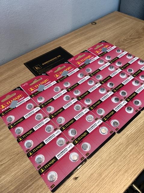 Vỉ pin 626 - 377 SR626SW SR626 TIANQIU chuyên dùng thay điều khiển, pin đồng hồ giá rẻ siêu chất lượng