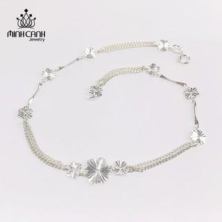 [Mã MCJ20 giảm 20K đơn từ 199K] Lắc Chân Bạc Nữ Hoa Phay - Minh Canh Jewelry thumbnail