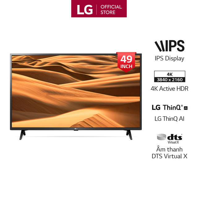 Smart Tivi LG 49 Inch UHD 4K 49UM7300PTA Model 2019 - Có Magic Remote (Chính H