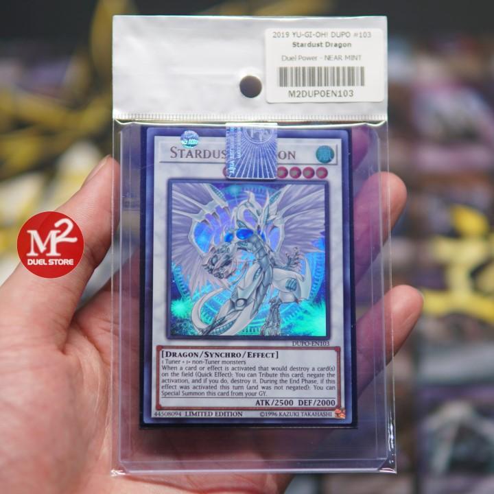 Thẻ bài Yugioh Stardust Dragon - Độ hiếm Ultra Rare - Quái thú huyền thoại của Yusei Fudo - Bảo quản M2SCCQ
