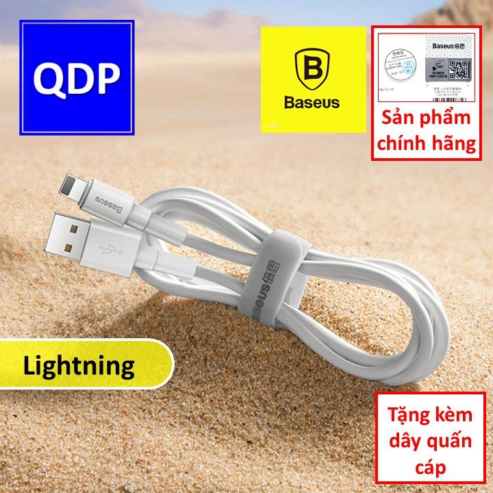 Cáp sạc nhanh Lightning Baseus Mini White Cable 2.4A chính hãng