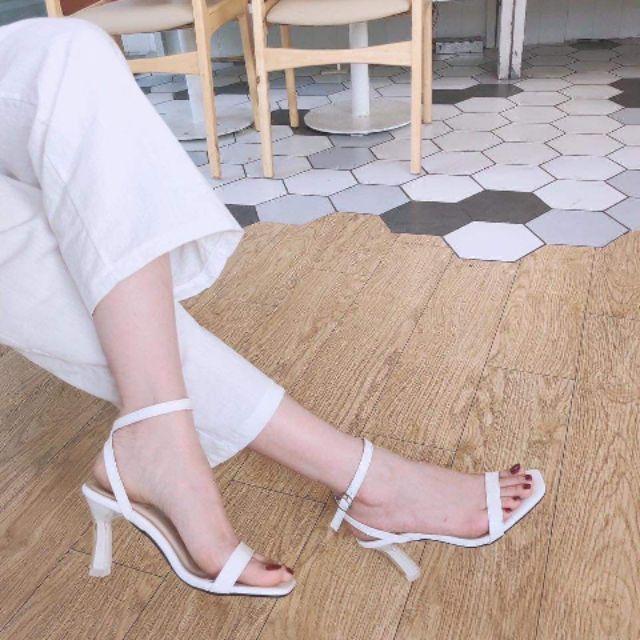 Sandal quai mảnh, đế mảnh 7 phân