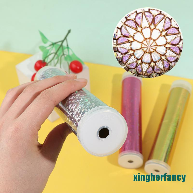 XYCC 1 Set DIY Colored Rotating Kaleidoscope Kits Science Experiment Educational Toy XJSS