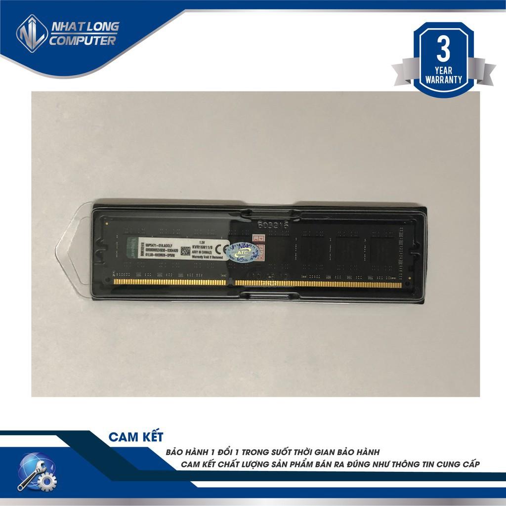 Bộ nhớ máy tính để bàn Kingston DDR3 8GB Bus 1600Mhz Bảo Hành 36T Giá chỉ 540.000₫