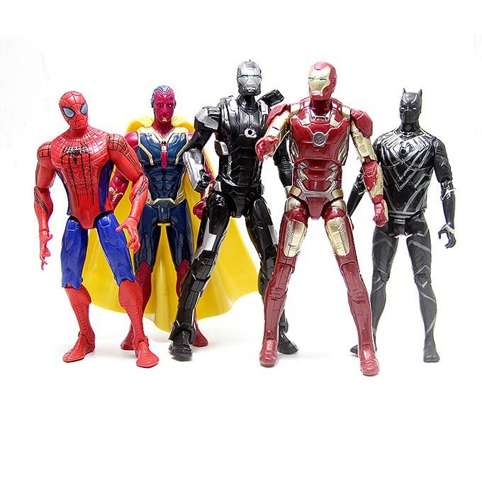 Mô hình 5 siêu anh hùng team Iron Man Marvel trong Captain America Civil War cao 16-18cm
