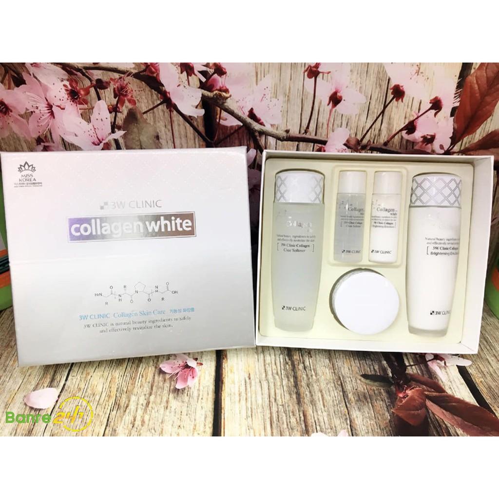 Bộ 3 sản phẩm dưỡng trắng da collagen - 3W CLINIC Collagen White Skin Care 3 Items Set - 21911585 , 5304716605 , 322_5304716605 , 550000 , Bo-3-san-pham-duong-trang-da-collagen-3W-CLINIC-Collagen-White-Skin-Care-3-Items-Set-322_5304716605 , shopee.vn , Bộ 3 sản phẩm dưỡng trắng da collagen - 3W CLINIC Collagen White Skin Care 3 Items Set