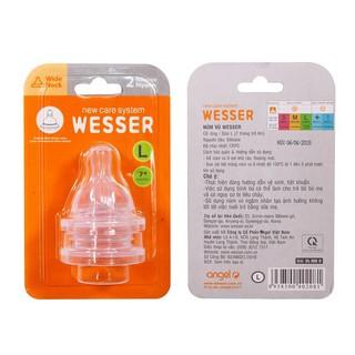 Ty bình sữa Wesser cổ rộng size L, vĩ 2 cái V1074