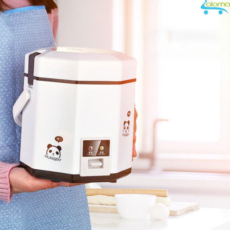 Nồi cơm điện mini 1.2L UXUE B12 nấu cơm hâm nóng nấu cháo hầm xương kèm bộ thìa đũa