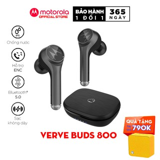 Tai nghe nhét tai bluetooth không dây TWS sạc không dây - Motorola - VerveBuds800-Hỗ trợ sạc không dây- Type C thumbnail