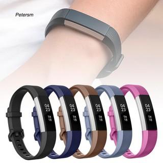 Dây đeo thay thế cho đồng hồ Fitbit Alta HR màu trơn bằng silicon