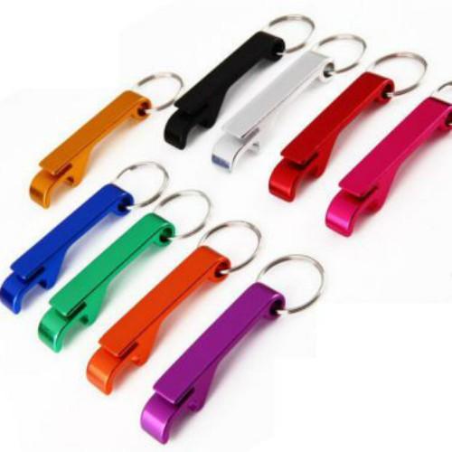 Set 10 móc khóa kiêm khui nắp chai bằng thép nhiều màu