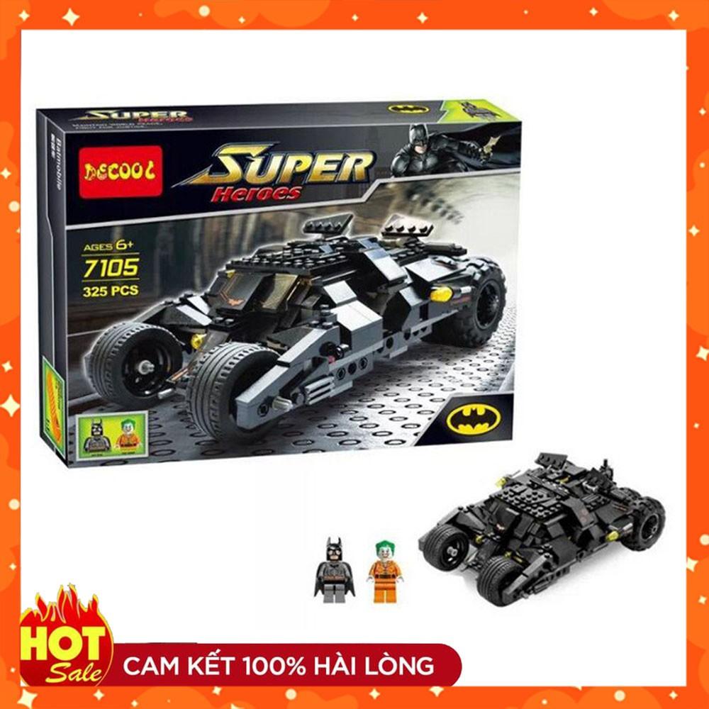 (ĐỒ CHƠI LEGO GIÁ RẺ) [Free ship nội thành] ✌ Lắp Ráp xếp hình Lego 7105: Siêu Xe Tumber Của Người Dơi Batman (ảnh thật)