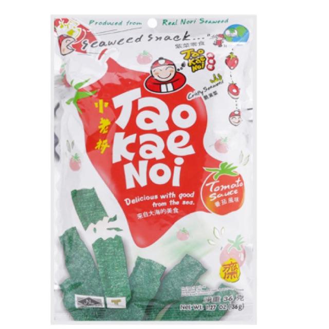 Snack rong biển giòn vị cà chua Tao Kae Noi 36g - 2542558 , 373162638 , 322_373162638 , 45000 , Snack-rong-bien-gion-vi-ca-chua-Tao-Kae-Noi-36g-322_373162638 , shopee.vn , Snack rong biển giòn vị cà chua Tao Kae Noi 36g