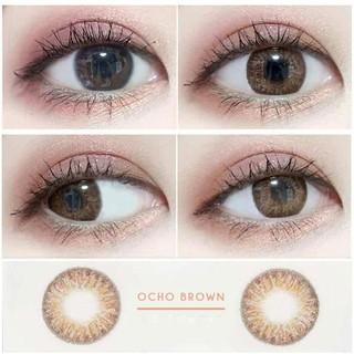Lens cao cấp màu nâu họa tiết-OCHO BROWN Silicone Hydrogel