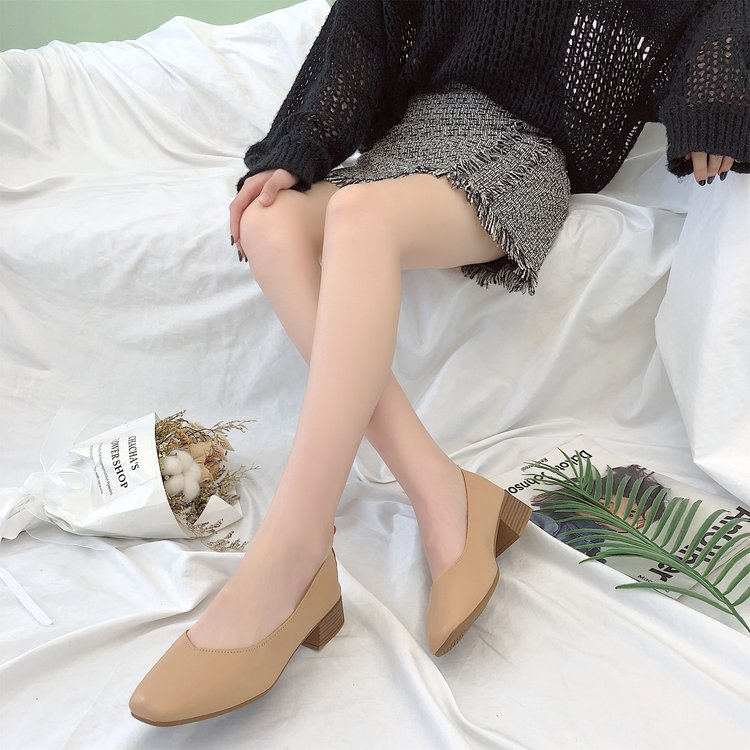 Giày Búp Bê Da Mũi Vuông Cao Cấp Đơn Giản Thời Trang Cho Nữ