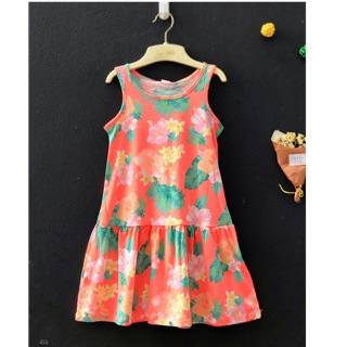 Váy hoa hồng pnk
