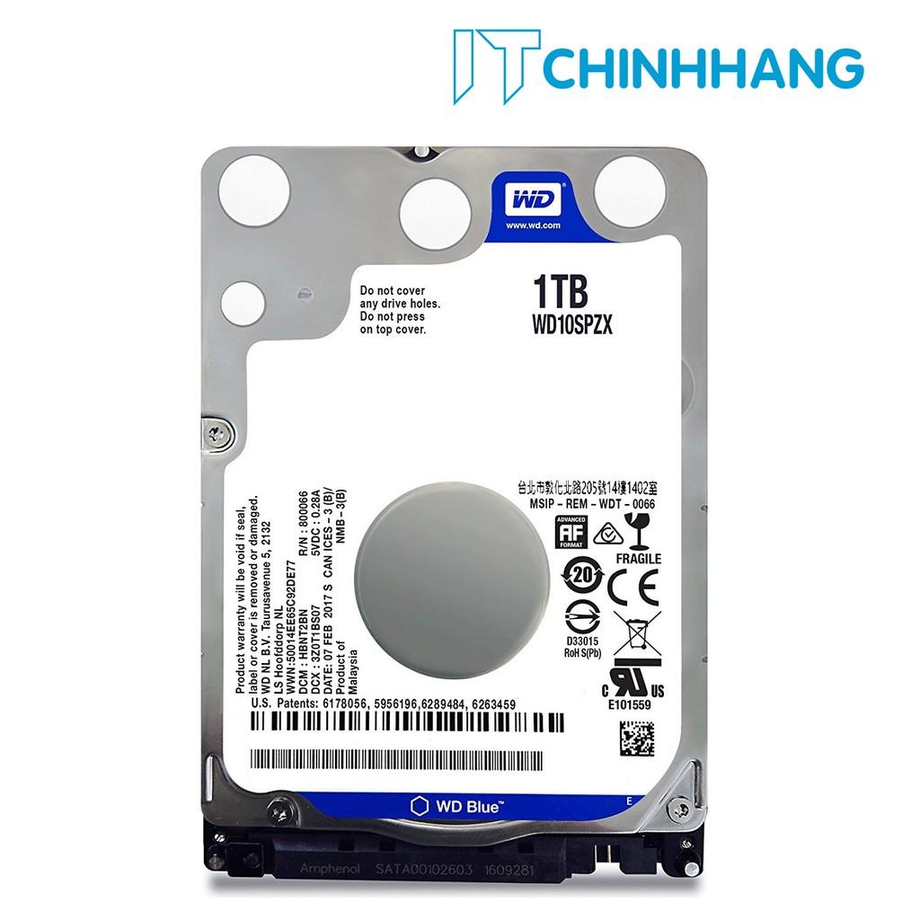 Ổ cứng gắn trong máy tính HDD WD 1Tb - NoteBook (BLUE) - HÃNG PHÂN PHỐI CHÍNH THỨC