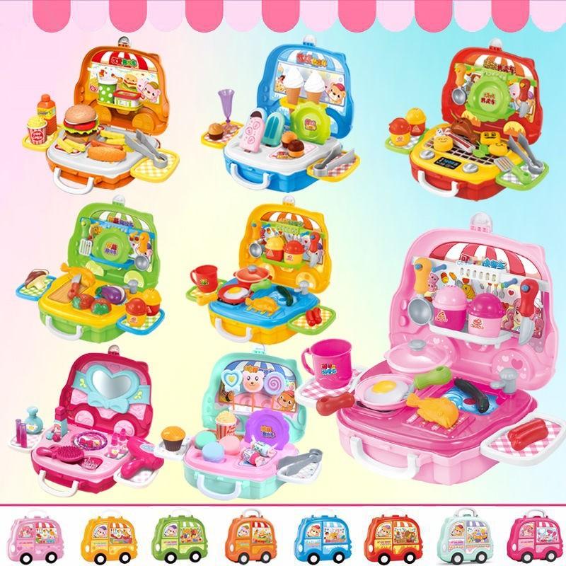 [Lựa chọn đầu tiên để làm quà tặng] Đồ chơi trẻ em, bộ đồ ăn kem, nấu cơm, bộ vali trang điểm nhà bếp