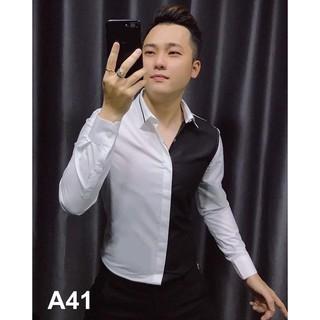[ SIÊU HOT] Áo sơ mi lụa 3D tay dài phối tay đen phong cách, dễ mặc, dễ phối ITTD38