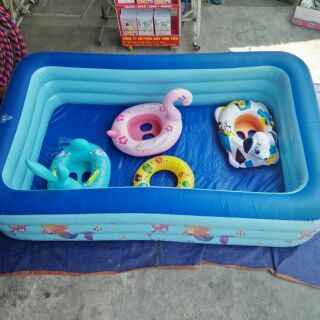 Bể bơi 3 tầng 1,8met tặng bộ dán keo chống lủng