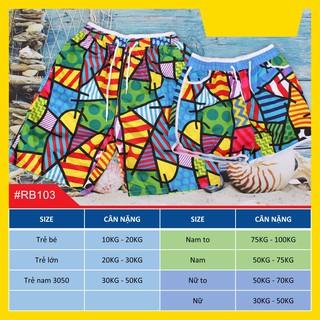 10 mẫu quần đôi đi biển hàng cao cấp có size trẻ em thumbnail