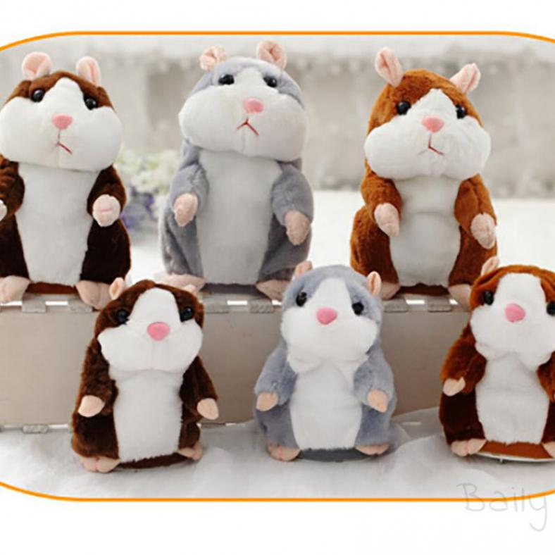 Baily odding 16cm no electric box hamster plush will walk the little hamster companion children's toys