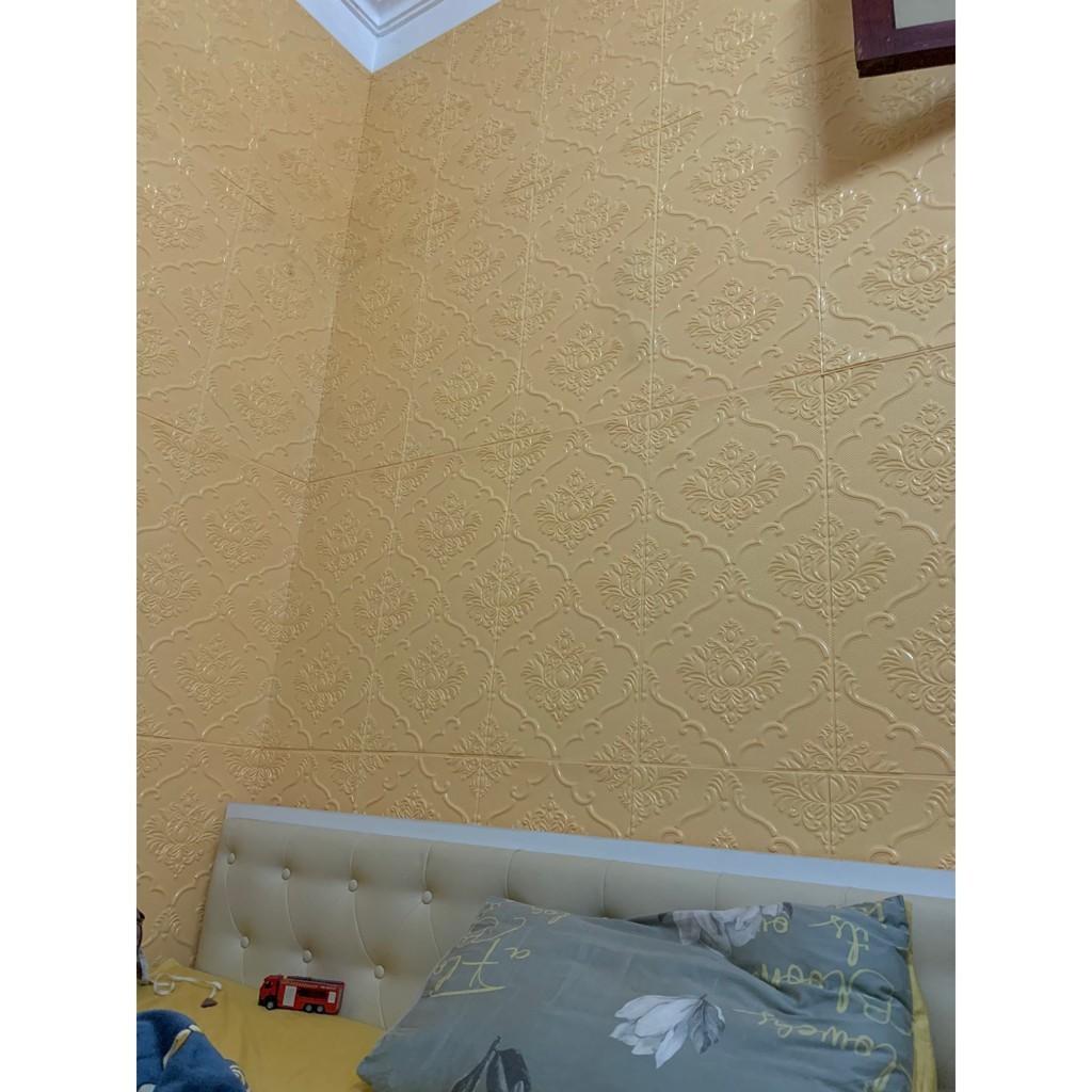 Xốp Dán Tường 3d Tân Cổ Điển Cao Cấp - Loại 1 Sẵn Keo - Khổ 70x70cm - Dán tường, dán Trần cực sang