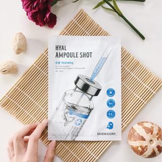 Mặt NạGiấy Cấp Ẩm Dermatory Ampoule Shot Mask Hyal-Shot 35g