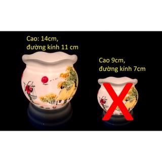 Bộ 1 Đèn xông tinh dầu bát tràng Hà Nội + 2 lọ tinh dầu đặc biệt 10ml