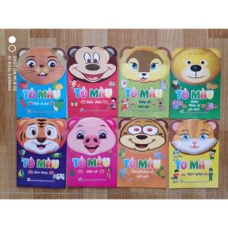 Set 8 cuốn tập tô màu cho bé