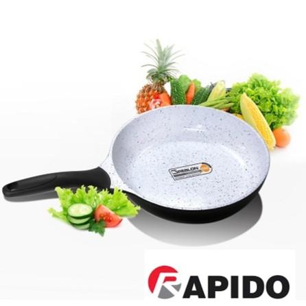 Chảo từ chống dính cao cấp Rapido Italy 20cm-24cm-28cm 3 đáy, dùng cho tất cả loại bếp, không kén nồi
