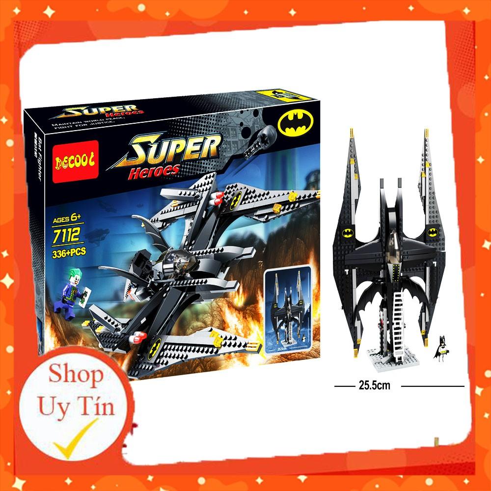 [ ĐỒ CHƠI LEGO ] ⚡ Ảnh thật ⚡ Đồ chơi Xếp hình Batman Bộ Lắp Ráp lego Bat Fighter Batman Joker 336PCS
