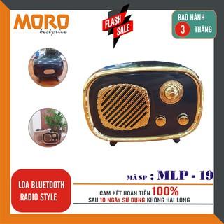 [Mã ELFLASH5 giảm 20K đơn 50K] Loa bluetooth kiểu dáng RADIO độc đáo MLP 19 – âm thanh hay - Hàng nhập khẩu