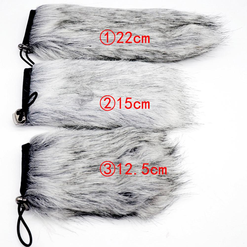 Stereo Professional Noise Cancellation Furry Easy Install Smooth Practical Dustproof Lightweight Microphone Windshield