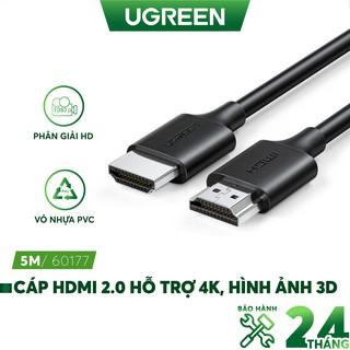 Cáp HDMI 2.0 hỗ trợ 4K, 3D cáp dạng tròn dài từ 0.5-5m UGREEN HD134