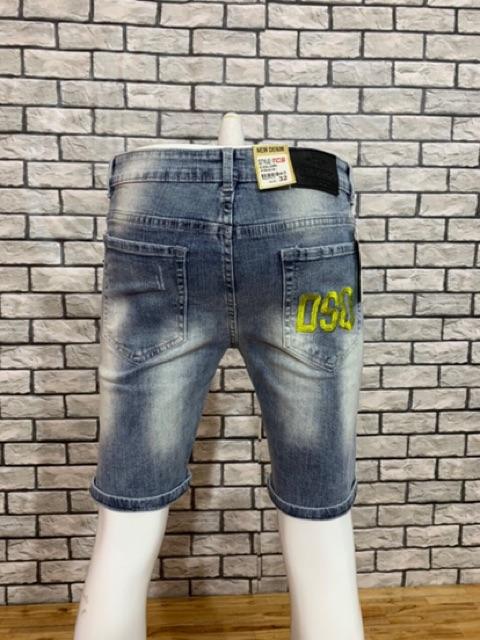 Quần short jean nam thêu cao cấp AT 140