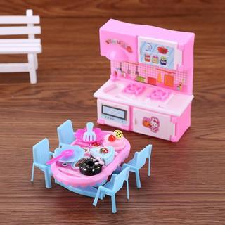 Set 6 món đồ chơi nhà bếp mini dùng trang trí nhà búp bê 11.4inch
