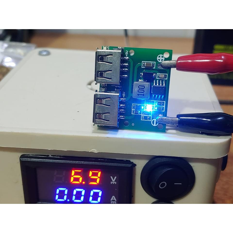 Mạch hạ áp 12V 24V sang 5V 3A có tản nhiệt nhôm, hàn dây sẵn, 2 cổng sạc điện thoại 3A