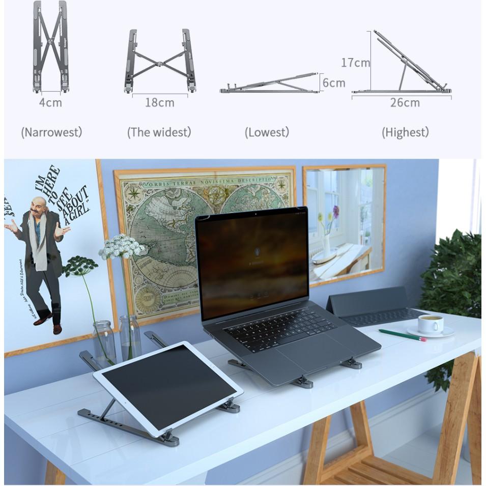 Giá Đỡ Tản Nhiệt Chống Trượt Cho Laptop 11-17 Inch Tiện Dụng