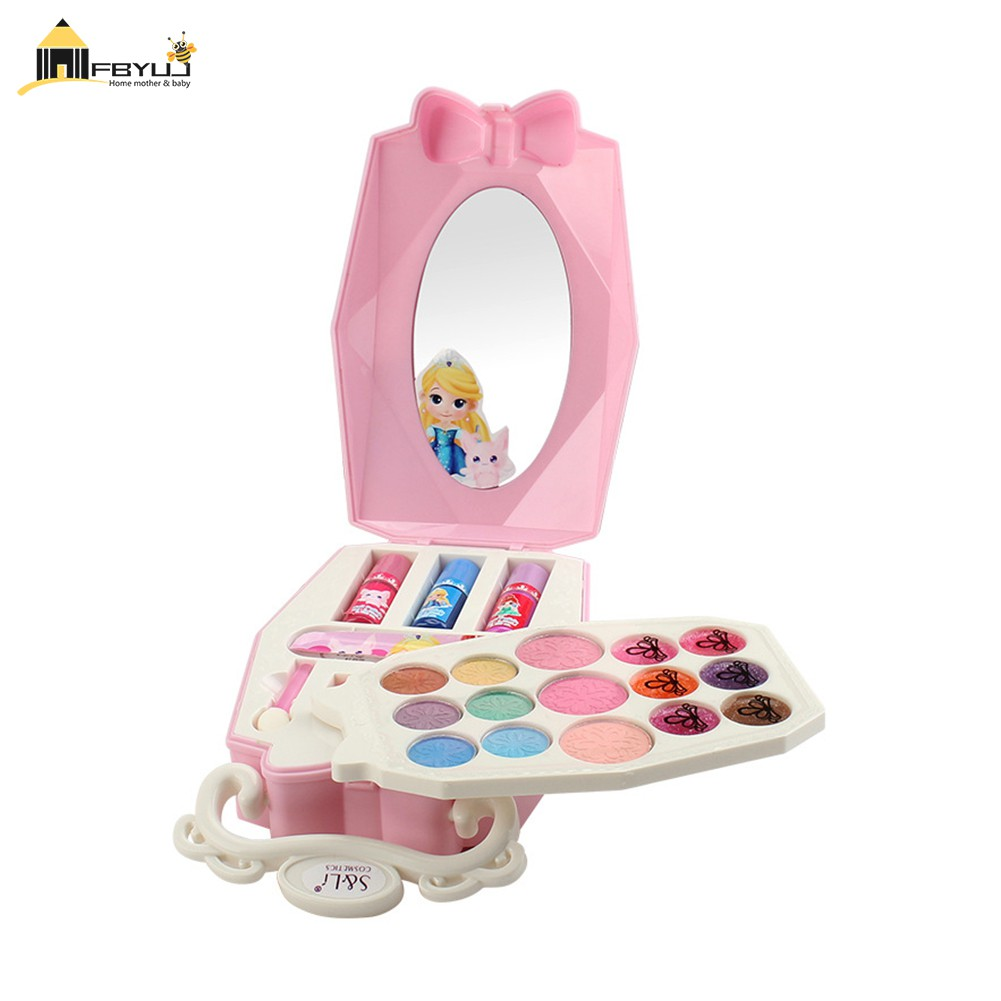 FBYUJ- Mini Box Make Up Set for Kids Girl Safety Tested Non Toxic Girls Toy Make Up Kit