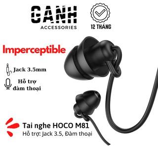 Tai nghe có dây HOCO M81 Imperceptible – Jack 3.5mm hỗ trợ micro đàm thoại dành cho smartphone,tablet