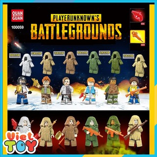 Combo 6 nhân vật PUBG BattleGrounds Sâu Róm – Non lego – 5059