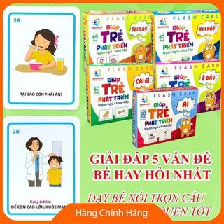[Giảm giá] Thẻ học phát triển ngôn ngữ và giao tiếp cho trẻ mầm non theo 5 câu hỏi_Hàng cao cấp