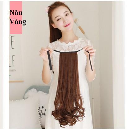 Tóc cột xoắn đuôi cao cấp,đủ size, đủ màu chất liệu tóc giả tơ nhân tạo